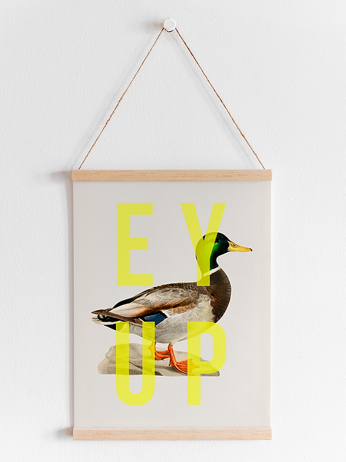 Ey Up Duck | A4 Print