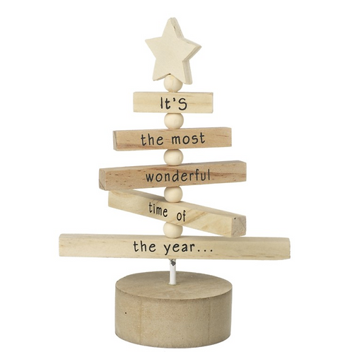 Wooden Tree Standing Decoration