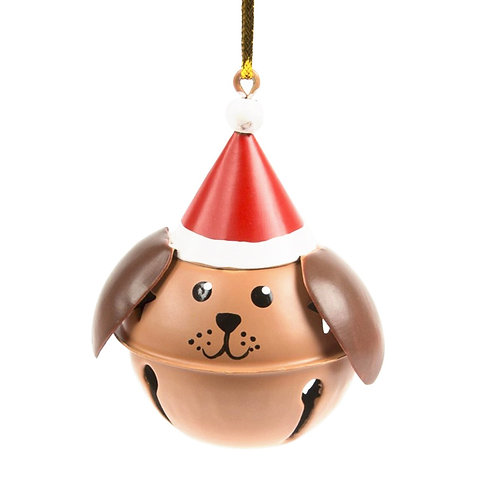 Brown Dog Hanging Bell Decoration