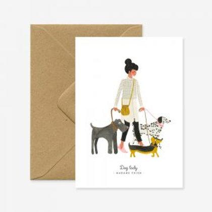 Dog Lady Card