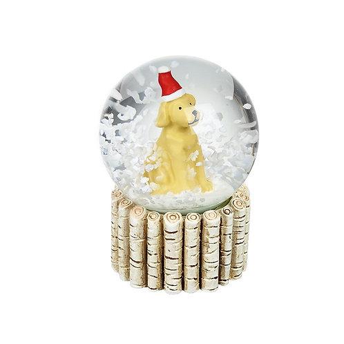 Mini Snowglobe | Dog In Santa Hat