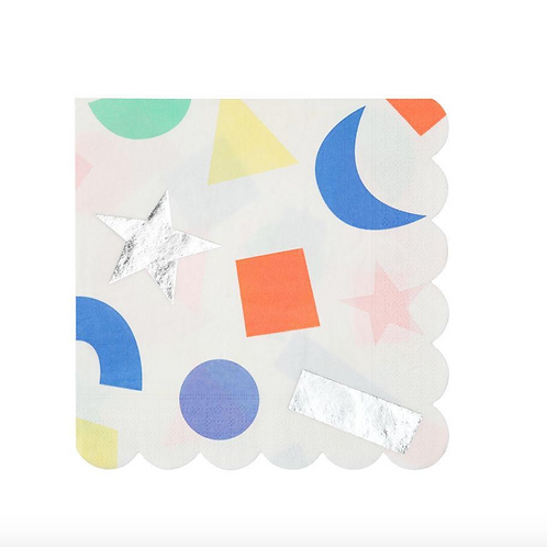 Napkins | Silver Geometric
