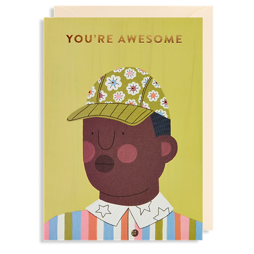 You're Awesome Face Card