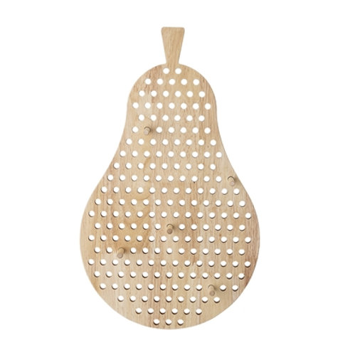 Natural Wood Wall Display Pear Pegboard