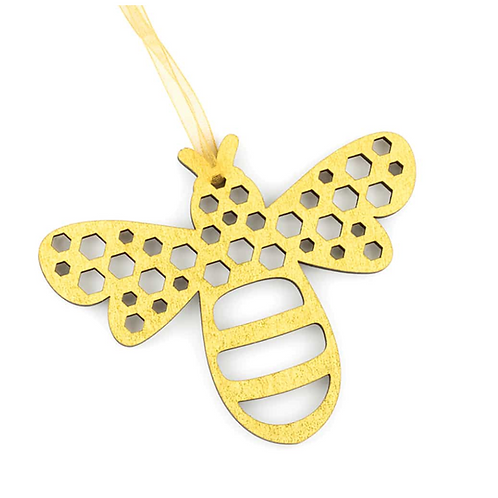 Wooden Bee Christmas Decoration