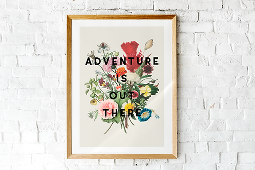 Adventure Is Out There | A5 Print