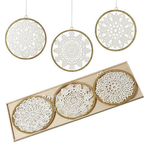 Paper Cut Decorations   Set of 9