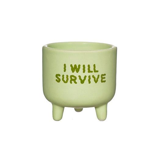 I Will Survive Small Pot Planter
