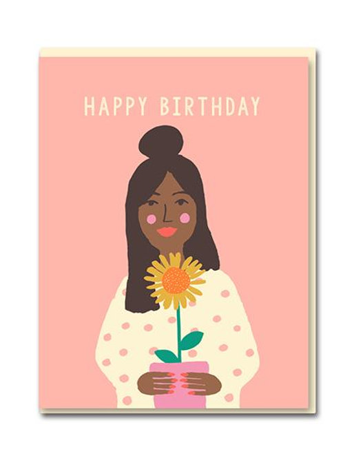 Happy Birthday Girl Sunflower Card