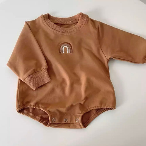Rainbow Jumper All in One | Brown