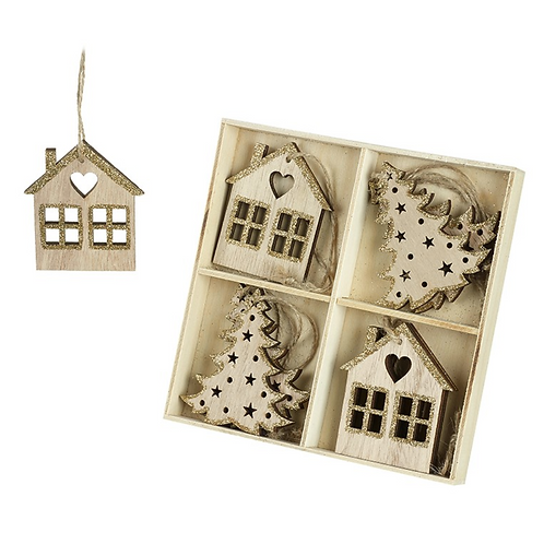 Wooden House Christmas Decorations