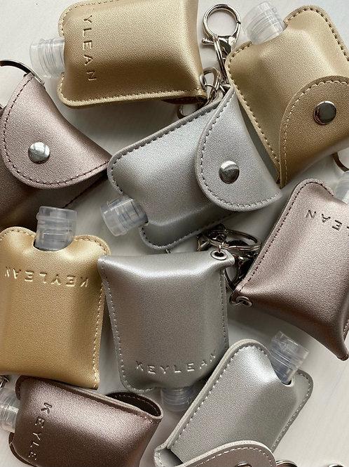 Metallic Leather Sanitizer Keying