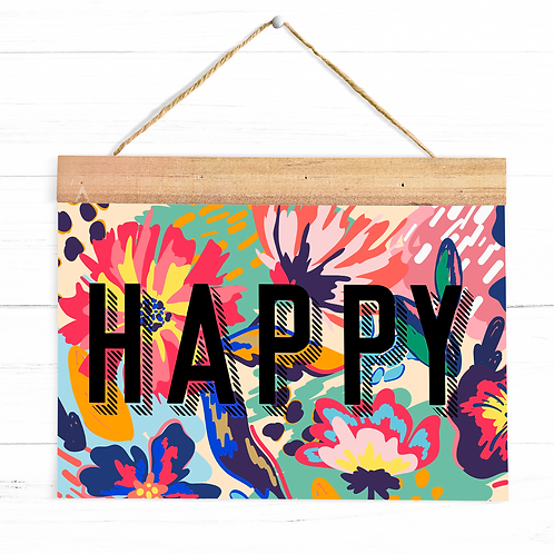 Floral Happy | A4 Print