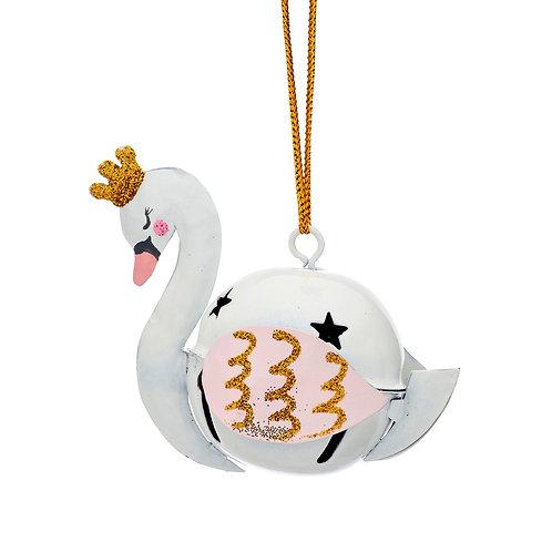Swan Hanging Bell Decoration