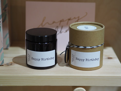 120ml Hand Poured Happy Birthday Candle