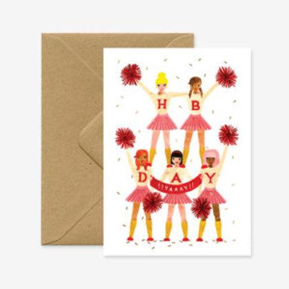 Happy Birthday Cheerleaders Card