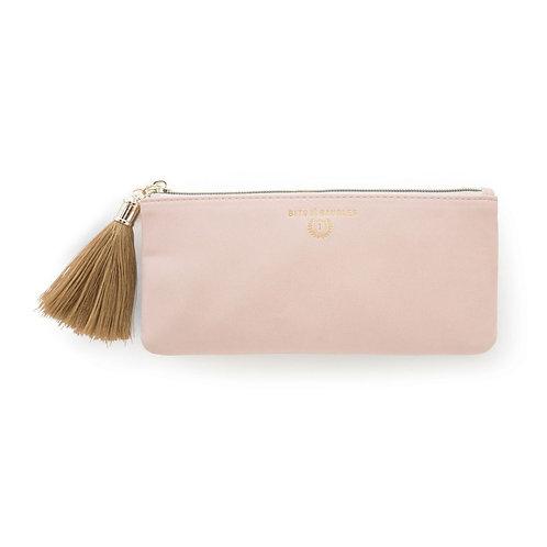 Blush Pink Vegan Leather Pencil Case