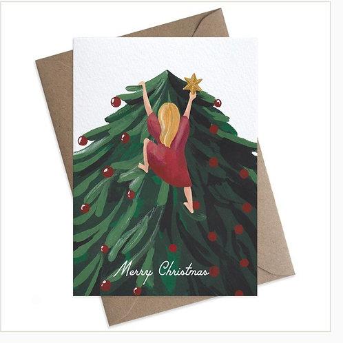 Christmas Climber Card