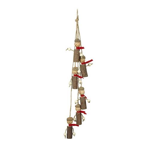 Wooden Hanging Acorn Garland