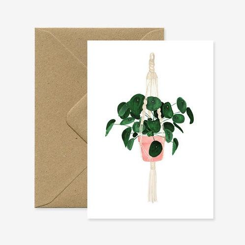 Hanging Pilea Card