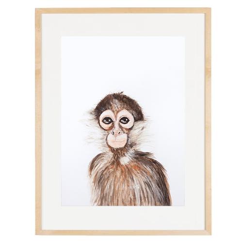 Mono enmarcada varilla chata 1,5 passpartou 4 cm 30x40