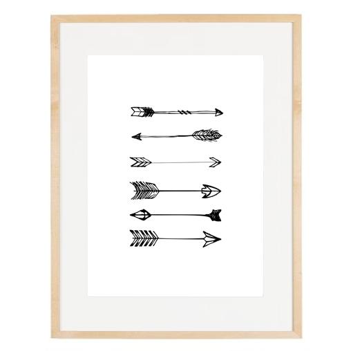 ej marco madera cruda con flechas