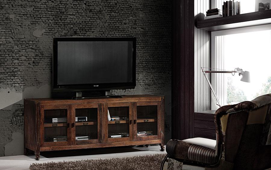 Muebles-Mueble-de-Tv-industrial-4-puertas