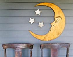 Carteles Madera Luna y Estrellas