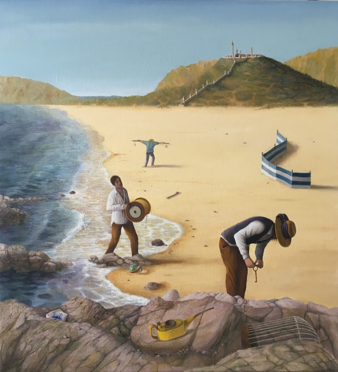 "'Beachcombing', 2018, oil on linen, 26"" x 24"""