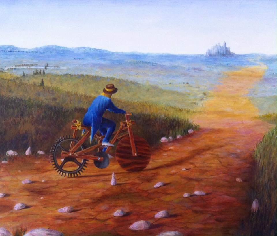 "'Always beckoning', 2016, oil on gessoed panel, 10"" x 12"""