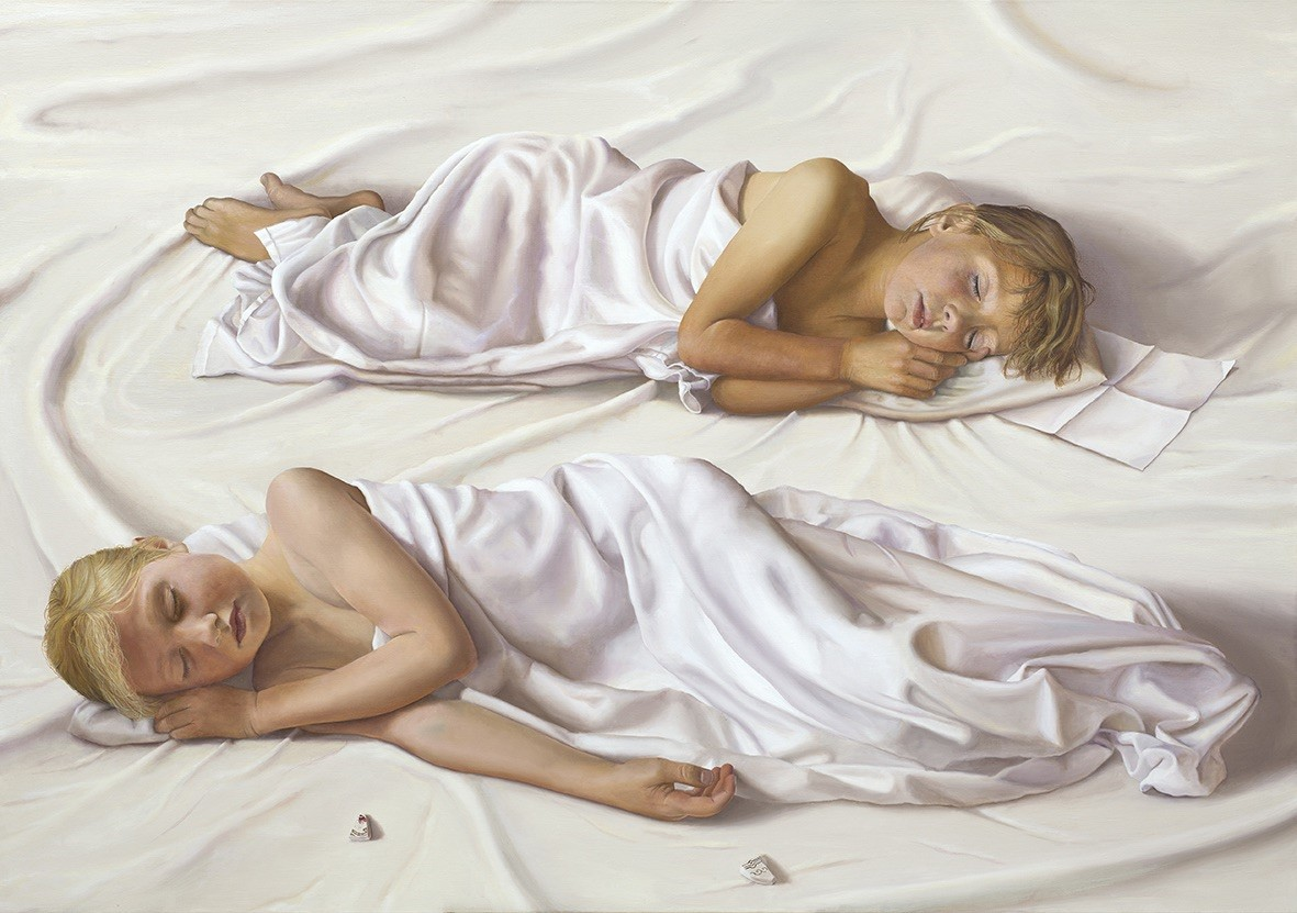 "'Summer Sleep', 2019-2020, oil on linen, 38"" x 54"""