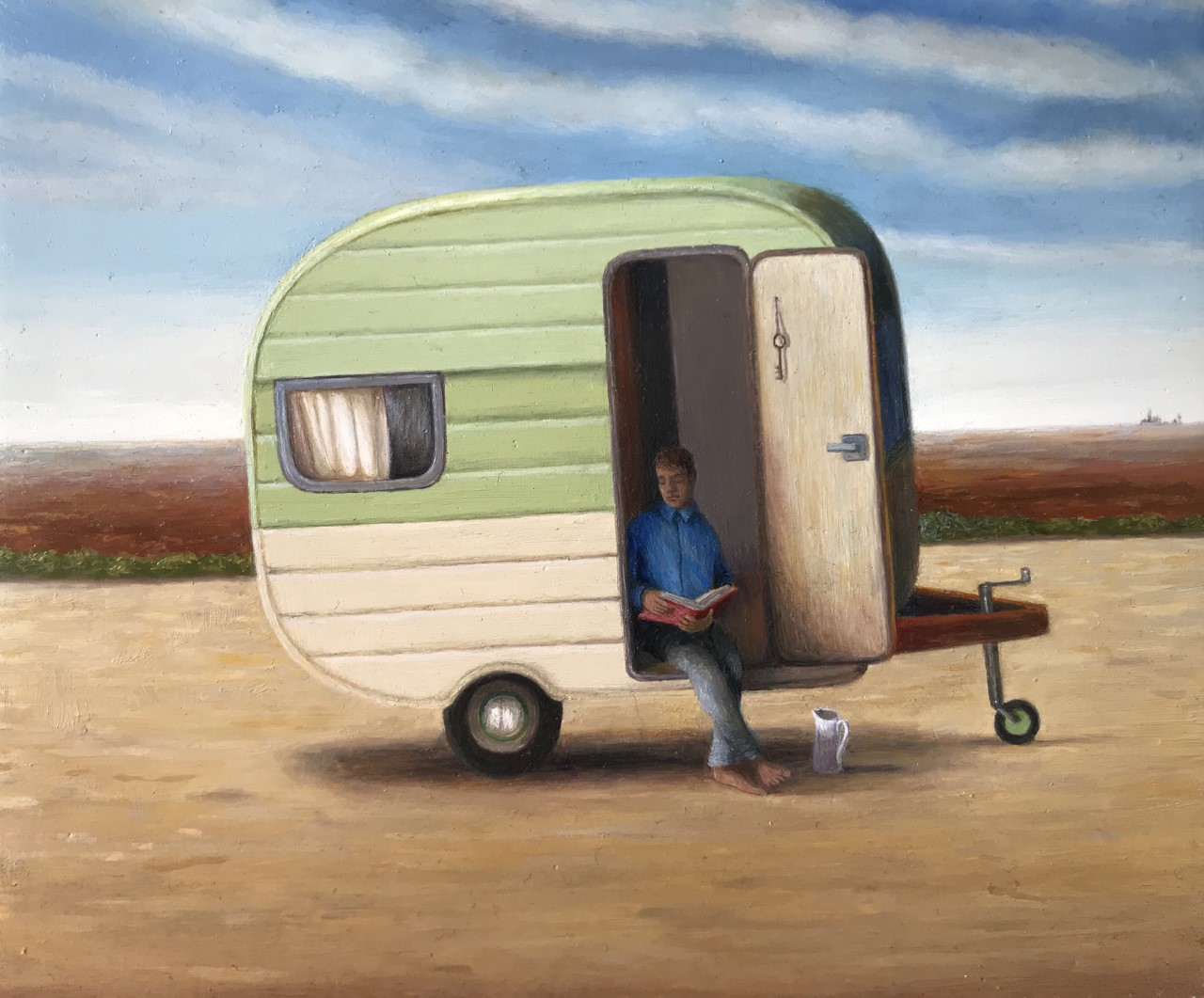 "'Caravan poem', 2017, oil on gessoed panel, 5"" x 6"""