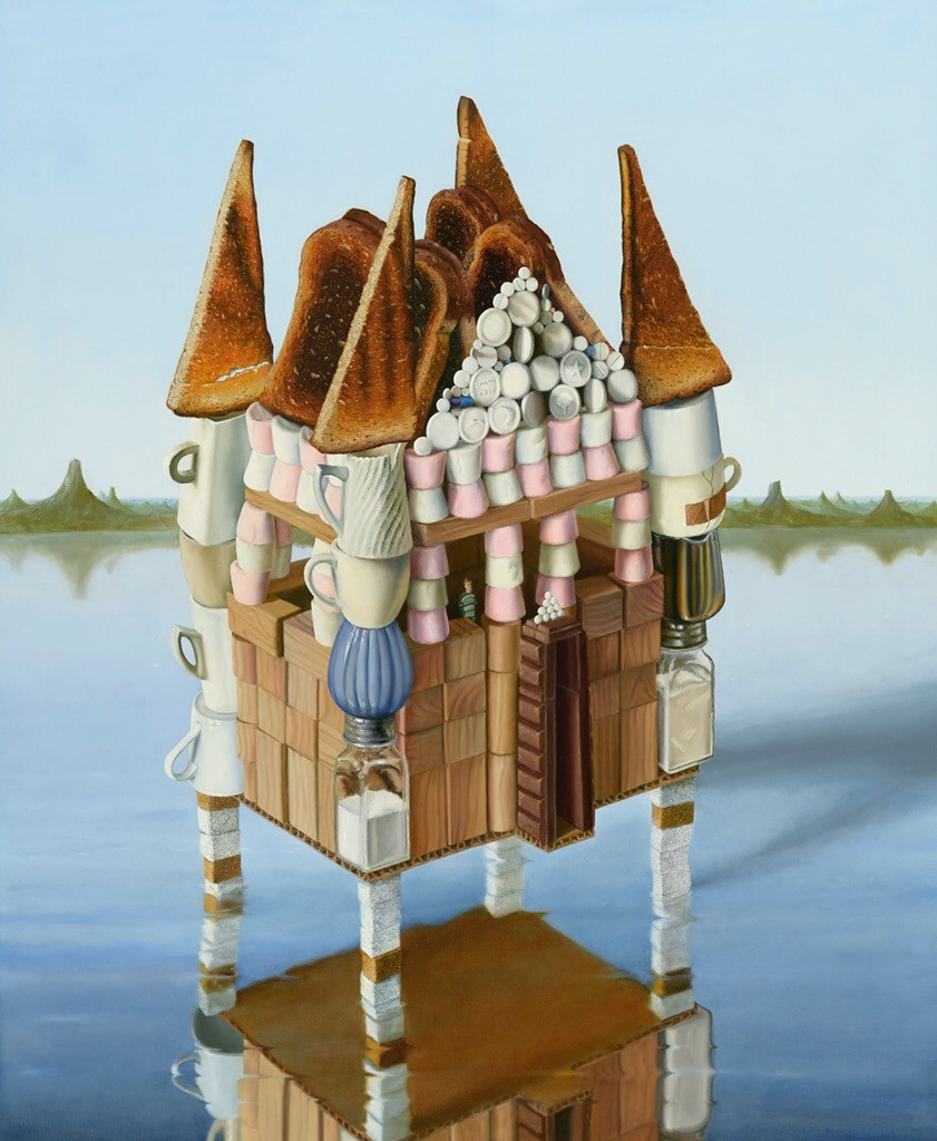 "'Lake house', 2013, oil on linen, 44"" x 36"""