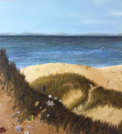 """'A path to the sea', 2015, oil on linen, 26"""" x 24"""""""