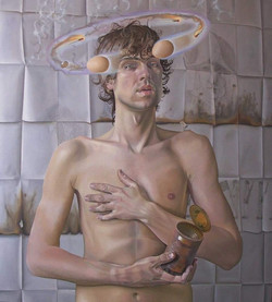"""'The end of youth', 2004-2006, oil on linen, 40"""" x 36"""""""