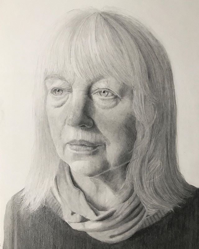 """'Mother', 2020, graphite on paper, 14"""" x 10"""""""