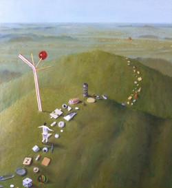"'Beyond the horizon', 2014, oil on linen, 26"" x 24"""