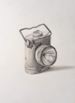 "'Lamp', 2017, graphite on paper, 14"" x 10"""