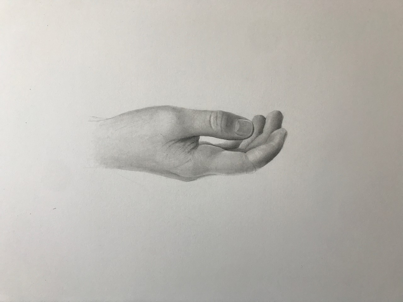 "'Gift, 2019, graphite on paper, 10"" x 14"""