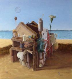 "'Living in Time', 2015, oil on linen, 26"" x 24"""