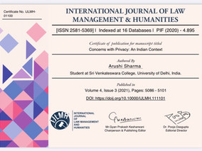 Research Paper Published in IJLMH