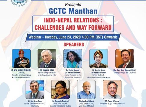 Indo-Nepal Relations Webinar | GCTC