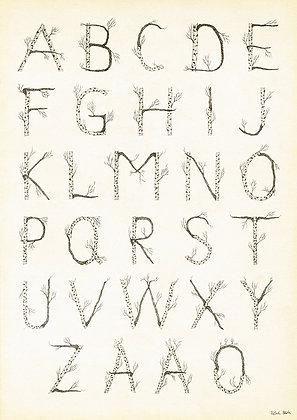 ABC Vintage Poster