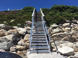 Custom Designed and Installed New Aluminum Stair System
