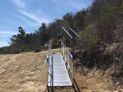 New Beach Ramp Installation