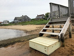 Built and Replaced Washed Away Step