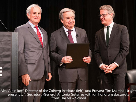 """United Nations Secretary-General António Guterres Delivers Remarks on """"Women and Power"""" at The New S"""