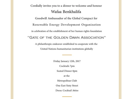 Gate of the Golden Dawn Association Launching Gala Dinner