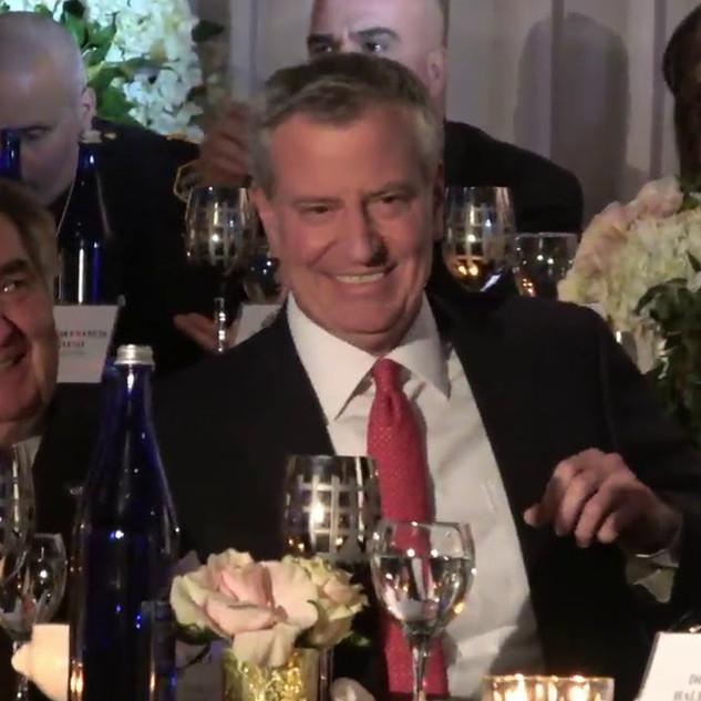 NYC Mayor Bill de Blasio attended The JCM 14th years Anniversary Gala