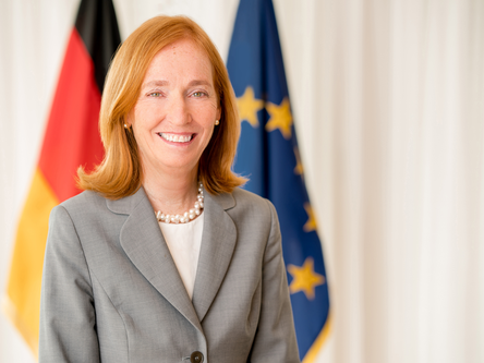 "German Ambassador Dr. Emily Haber on European Solidarity in the face of COVID-19- ""alleviate, m"